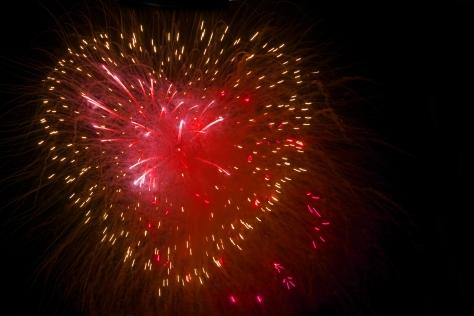 fuoco artificio cuore